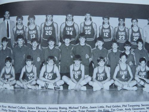 RCCA JV Basketball team 1983
